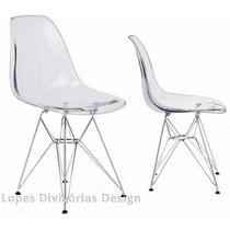 Kit Com 2 Cadeira Policarbonato Eamens 1101pc - Transparente