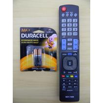 Controle Remoto Tv Lg Led 3d Smart Home Akb73615319 + Pilha