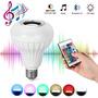Lâmpada Led 7w Rgb Caixa Som Bluetooth Controle 2 Em 1 Mp3