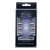 Konad Unhas Postiças Metallic Nail Tips - Prata