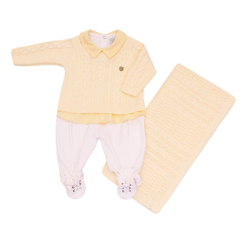 kit maternidade miguel beth bebe tricot amarelo r 283 4 wqjwf precio d brasil. Black Bedroom Furniture Sets. Home Design Ideas