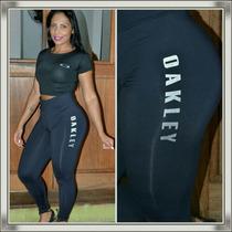 f6ab456b0 Cropped + Calça Legging Feminino Oakley Conjunto Kit Blusa