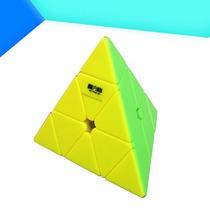 Cubo Mágico Qiyi Pyraminx Stickerless Peças Coloridas