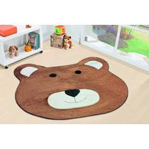Tapete Para Quarto Infantil Urso Marrom 1,30m X 1,18m
