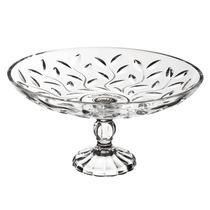 Centro De Mesa Oval Com Pé Laurus Rcr Cristal Transparente