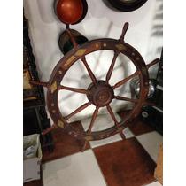 Timão Antigo De Madeira De Barco Navio Veleiro Marinha