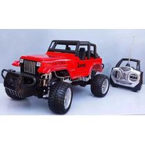 Jeep 1/12 Carrinho Controle Remoto Farol Led Pronta Entrega