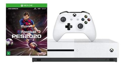 Microsoft Xbox One S 1tb Pro Evolution Soccer 2020 Branco