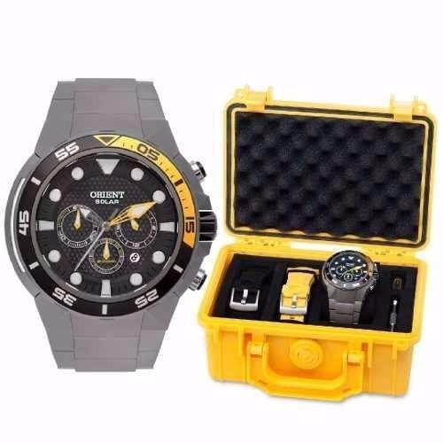 24735ae6d3739 Relógio Orient Sea Tech Titanium Solar Mbttc014 P1gx