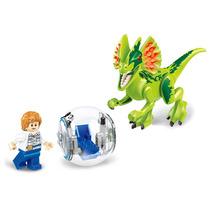 Jurassic World Gray Personagem Do Parque + Dinossauro Lego