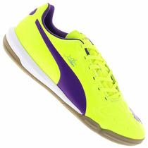 Chuteira Tenis De Futsal Puma Evopower 3 It - Amarelo