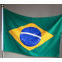 Bandeira Oficial Do Brasil E De Atibaia 90x129cm (conj)