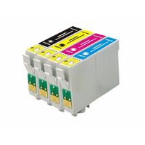 Kit 4 Cartuchos Compatível Epson Impressora Stylus Tx115