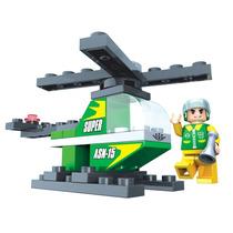 Click It Helicóptero 33pc Cidade Bloco Montar Similar Lego