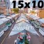 Lona 300 América Branca Impermeável P Barraca De Feira 15x10