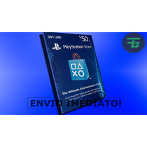 Psn Card Playstation Network Card Cartão Psn $50 Dólares
