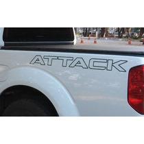 Kit 3 Adesivos Nissan Frontier Attack + Soleira De Brinde