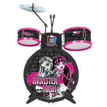 Brinquedo Musical Bateria Infantil Monster High Com Baquinho