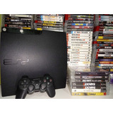 Playstation 3 Slim Ou Ps3 Super Slim + Jogo Original Bluray