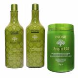 Kit Shampoo + Condicionador 1l + Máscara Argan Oil 1kg Inoar