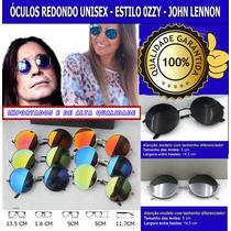 Óculos De Sol Unisex Redondo Estilo Ozzy - John Lennon