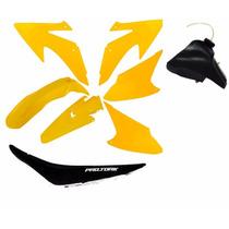 Kit Plástico Crf 230 08 Á 15 Xr Nx 150 200 250 Roupa Amarelo