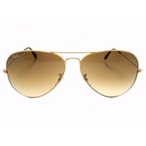 Oculos Ray Ban Aviador Marrom Degrade Rb 3025 58mm Original