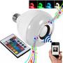 Lampada Bluetooth Musical Caixa De Som Led Rgb Com Controle