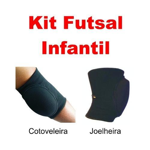 7a4794d3cc Kit Cotoveleira E Joelheira Goleiro Futsal Infantil Pentagol