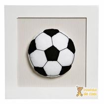 Quadrinho Decorado Quarto Bebê Infantil Esportes - Futebol