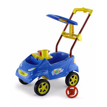 Carrinho Passeio P/ Bebê Baby Car Azul Homeplay Frete Grátis