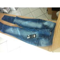 Calça Jeans Skinny Estretch Tamanho 44 Feminina