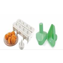 Forma Fábrica Coxinhas Salgados Kit Modelador Massas Esfihas