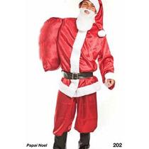 Fantasia Papai Noel Completa Calça,blusa,chapeu,saco,cinto