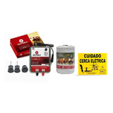 Kit Cerca Elétrica Rural Eletrificador + Fio 250m + Isolador
