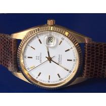 Elegante Relógio Em Ouro Zenith