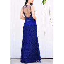 8210dfcd66 Lindo Vestido Azul Royal Renda Madrinha Casamento 15 Anos à venda em ...