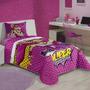 Edredom Infantil Barbie Super Princesa Lepper Meninas 1,5x2m