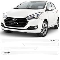 Friso Jogo Lateral Hyundai Novo Hb20 2016/... Branco Polar