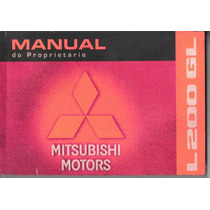 Manual Proprietário Mitsubishi L200 Gl 2008 2009 Original
