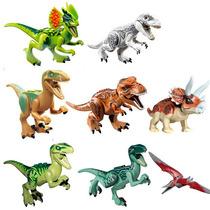 Dinossauros Compatível Lego - Kit Com 8 Miniaturas