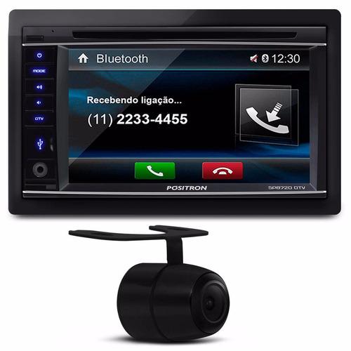 Central Multimídia Bluetooth Usb Tv Dvd Mp3 + Câmera De Ré