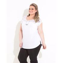 Blusa Plus Size Feminina Renda Verão Gordinha