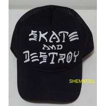 Bone Trucker Tela Aba Curva Classico Skate And Destroy