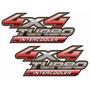 Par Adesivo Hilux 4x4 Intercooler - Marca 3m - Frete Gratis