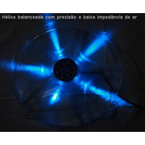 Cooler Fan Ventilador 18x18cm Akasa Led Azul P/ Pc