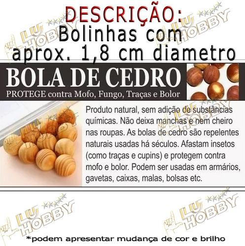 50x Bolinhas De Cedro Gaveta Anti Traça Mofo Bolor Canforada
