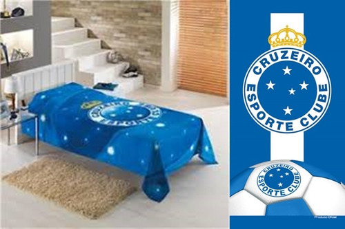 f106b478bc Colcha Solteiro+toalha Banho praia Futebol Oficial. R  199