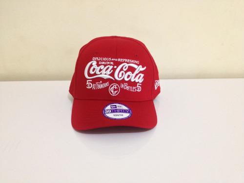 Boné De Aba Curva Infantil New Era Coca Cola Original 2060e032608