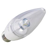 Lampada Led Vela 4w Bivolt Cristal E27 Branco Frio 6000k